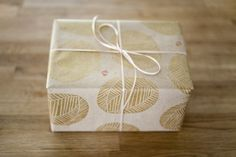 DIY: stamped gift wrap is my fave