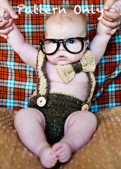 Nerd Baby Suspenders and Bowtie Diaper Cover by DarlingDerriere, $5.50