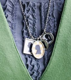 Super easy silhouette pic necklaces.