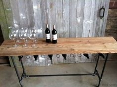 wine console table