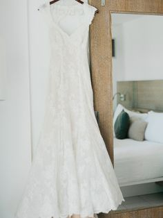 gorgeous lace gown by http://daisytarsi.com/ Photography: Merari Photography - www.merari.com  Read More: http://www.stylemepretty.com/2014/07/15/modern-garden-wedding-at-the-james-hotel-in-miami/