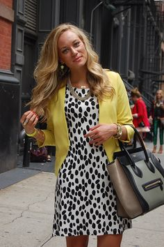 Dalmatian print with yellow