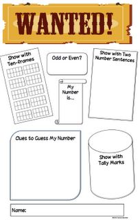 Classroom Freebies: Wanted! A Fun Number Poster