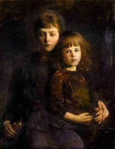 Abbott H. Thayer 'Brother and Sister (Mary and Gerald Thayer)' 1889 by Plum leaves, via Flickr