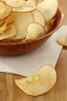Homemade Salt and Vinegar Potato Chips