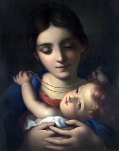 mari jesus, mother mari, art, bless mother, babi jesus