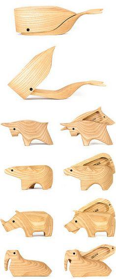 wooden animal boxes by karl zahn  designvagabond