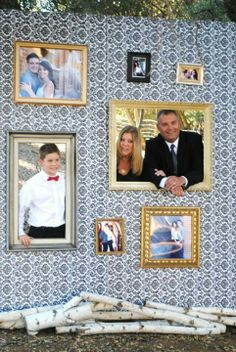 famili reunion, photo wall, family reunions, reunion idea, paint, hous, picture frames