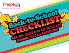 Use our #BacktoSchool Checklist to make sure you have everything you need for living on or off campus.