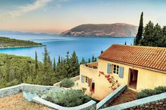 Located on the largest of the Ionian islands, this picturesque compound could well belong on a postcard.  It's for sale!  And only $1.3 million!