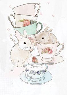 Bunnies and tea