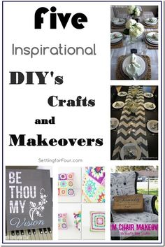5 Inspirational DIY's and Makeovers www.settingforfour