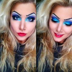 Disney Ursula makeup tutorial