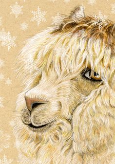 Alpaca Christmas Card Let it Snow 5 x 7 inches by roxy5235 on Etsy, $3.99
