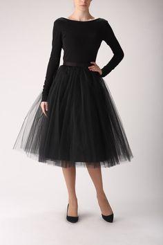 Tulle skirt long petticoat high quality tutu skirts by Fanfaronada