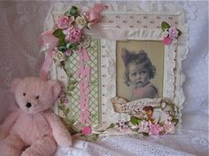 Shabby Chic altered Frame by Martica Designs