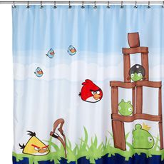 Angry Birds™ 72' x 72' Fabric Shower Curtain - Bed Bath & Beyond