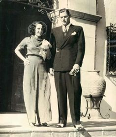 Lupe Velez & husband, Johnny Weissmuller. They were married for 5 years.