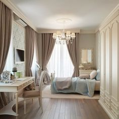taupe and cream bedrooms | ... Curve - Image 11 : Blue Beige Great Rustic Bedroom – Varrell.com paint color, color schemes, blue, shabby chic, bedrooms, master bedroom, bedroom designs, bedroom color, curtain