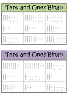 Down Under Teacher: Tens and Ones Bingo Game