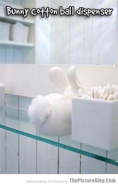 Bunny Cotton Ball Dispenser