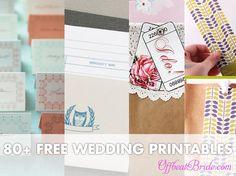 80+ free wedding DIY printables!!