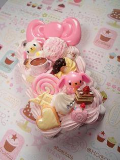 Tea Party Decoden Kawaii Deco Case for iPhone 3g