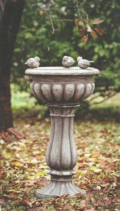 Italian Estate Stone Bird Bath
