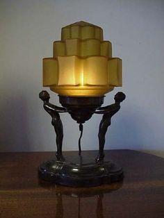 Art Deco figural lamp.