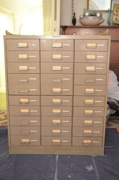 If you love a file cabinet and you love ombre - you're going to love this makeover!