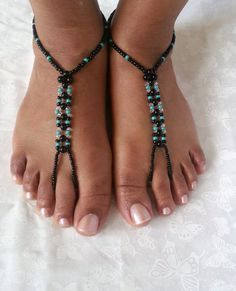 Barefoot Sandals Anklet Foot Jewelry Beach by ZamydreDesigns