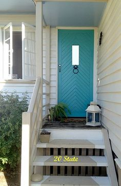 Fun/Colorful painted front door