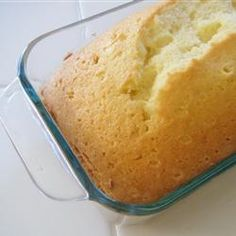 "Buttermilk Pound Cake II | ""Tangy, moist, and flavorful pound cake. Can be eaten plain or use as a base for numerous dessert ideas."""