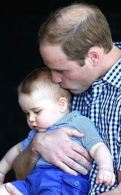 KISSES FROM DAD -  Chris Jackson/Getty Images