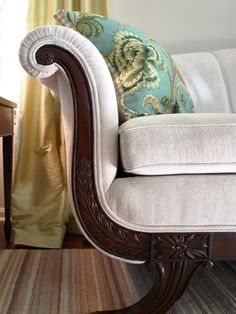 Buy Antiques and Update  Buy classic pieces with good bones and reupholster them. Rate My Space just-beachy purchased an antique Duncan Phyfe sofa on Craigslist and reupholstered it in an oyster chenille fabric.