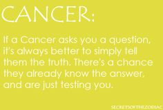 we know things. #runwhileyoucan  cancer zodiac (: