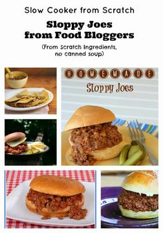 Slow Cooker Sloppy Joes from Food Bloggers; perfect idea for a Slow Cooker Summer Dinner! [via Slow Cooker from Scratch] #CrockPot #SlowCooker #FromScratch