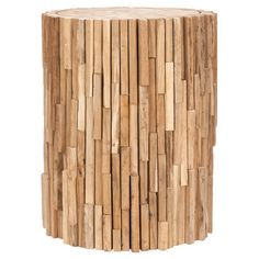 I pinned this Nico Teak Stool from the Remodelaholic event at Joss and Main!
