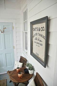 Sunroom decor via Liz Marie Blog. #porch