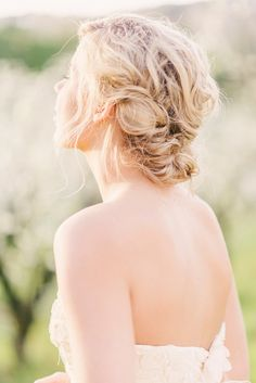 #Hairstyle -- This may be our favorite Valentine's Day Post on Style Me Pretty today!! See more right here -- http://www.StyleMePretty.com/new-zealand-weddings/auckland/2014/02/14/auckland-orchard-romance-shoot/ Kate Grewal Photography