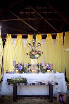 Yellow and Purple Barn Wedding Ideas