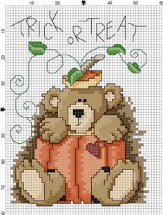 Trick or Treat Counted Cross Stitch Pattern by Berwickbay on Etsy, $1.00