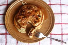 just made this one (but with more whole wheat flour): Buttermilk Multigrain Pancakes - healthy and delicious =D