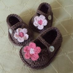 Download Now - CROCHET PATTERN Boutique Mary Janes - Pattern PDF via Etsy