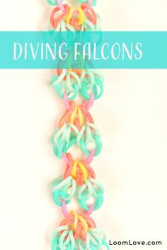 How to Make a Rainbow Loom Diving Falcons Bracelet