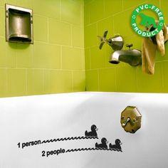 Bath Duck Level sticker