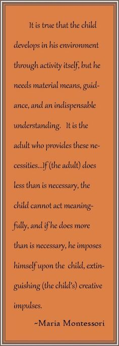 The adults in a Montessori classroom must learn to walk a fine line.