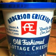 AE Old Fashioned Cottage Cheese: An Iowa favorite. Displaced Iowans have been known to phone home for a shipment ! #Cottage_Cheese #AE