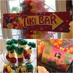 Luau Pool Birthday Party #luau #party