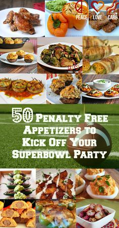 50 Penalty-Free Appetizers to Kick Off Your #Superbowl #Party! #lowcarb